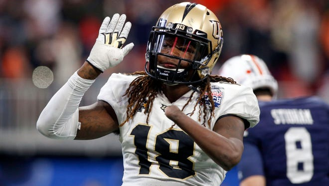 Shaquem Griffin was drafted by the Seattle Seahawks in the fifth round of the NFL draft.
