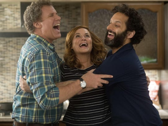 Will Ferrell, left, Amy Poehler and Jason Mantzoukas