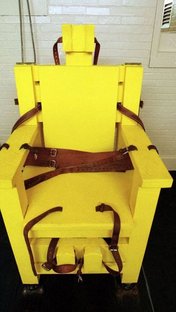 Yellow Mama, Alabama's electric chair, is at Holman Prison in Atmore.