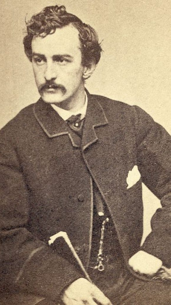 John Wilkes Booth, who assassinated Abraham Lincoln,