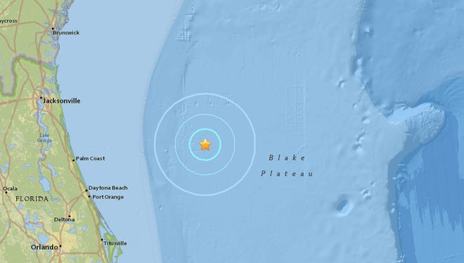 A 3.7 magnitude 'earthquake' was recorded off Daytona Beach Saturday evening. Officials are now saying the tremor was likely triggered by Navy testing.
