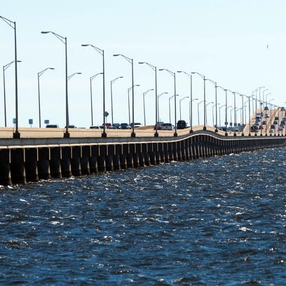 Pensacola Bay Bridge Feb. 9, 2016