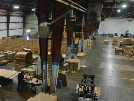 The warehouse and work spaces at One Earth Co. at 5701 W. Dickman Road in Battle Creek.