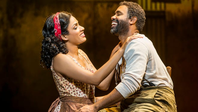"Alicia Hall Moran as Bess and Nathaniel Stampley as Porgy in the ""The Gershwins'?? Porgy and Bess."""