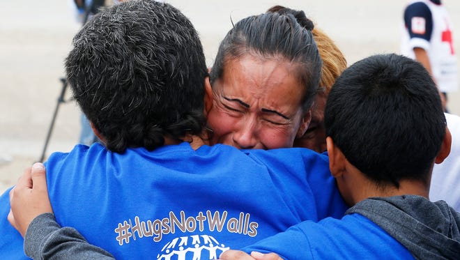 One thousand family members from El Paso and Juárez lined up along the U.S.-Mexico boundary on both sides of the Rio Grande on August 2016. They then spent three minutes together in the center of the riverbed as part of the #HugsNotWalls campaign. For some families, it was the first time they had seen each other in years. But even for those for whom the wait had been only months, the emotions were the same, with tears of happiness, hugs, photo opportunities and smiles. See more photos at elpasotimes.com.