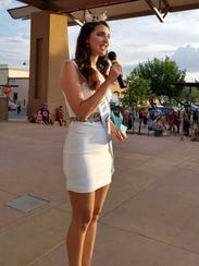 Miss New Mexico Taylor Rey, from Las Cruces, emceeda