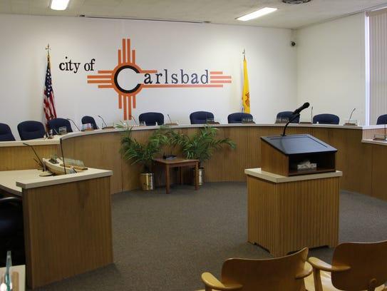 Carlsbad city council chambers.