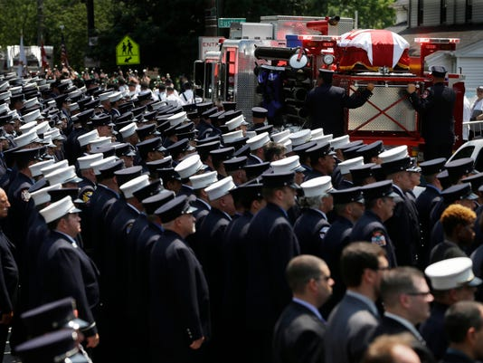 Firefighter Killed-Funeral