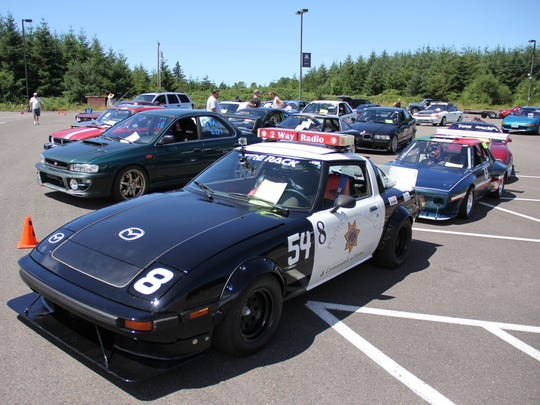 The field is gridded before the Willamette Motor Club's Grand Prix of Grand Ronde on Sunday, July 27, 2014.