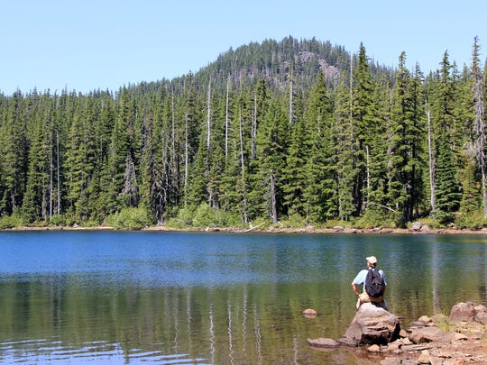 Wall Lake sits below Potato Butte along the backcountry trails of the Olallie Lake Scenic Area.