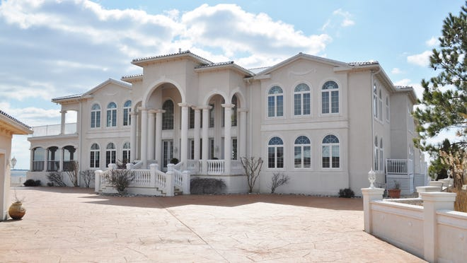 The home (above) was owned by Mario Capano and wife Rebecca. It was first put on the market five years ago for $7.5 million but sold last year for $4.13 million.