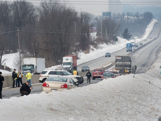 State Police and fire crews responded to Interstate 83 on Tuesday where a York County man was struck and killed by a passing tractor-trailer.