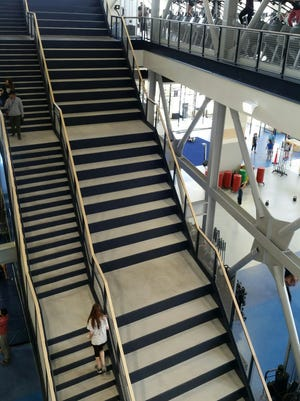 The fitness stairs at the E.L. Wiegand Fitness Center.