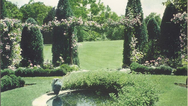 The Bancroft Gheradis' rose garden.