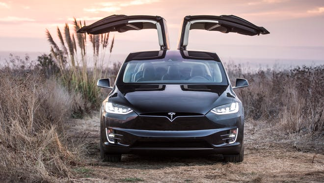Tesla's Model X crossover has a more substantial grille
