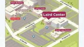 Location of Laird Center