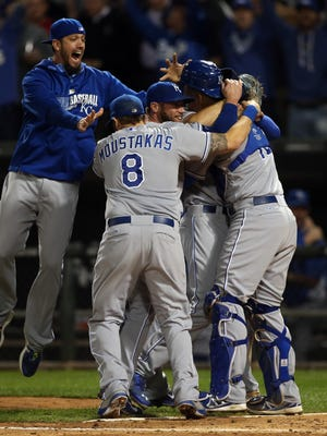 The Royals celebrate their first postseason berth in 29 years.
