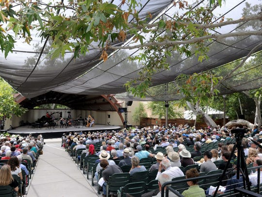 An afternoon of performances at the Ojai Music Festival takes place at Libbey Bowl. The festival draws classical music fans from around the world to Ojai each June.