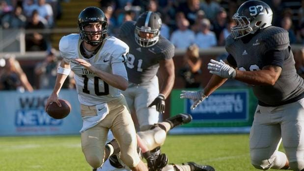Idaho quarterback Matt Linehan and the Vandals will play Nov. 21 at Auburn.