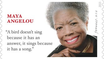 The May Angelou Forever Stamp.