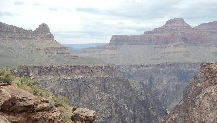 Poor visual air quality day at Grand Canyon National