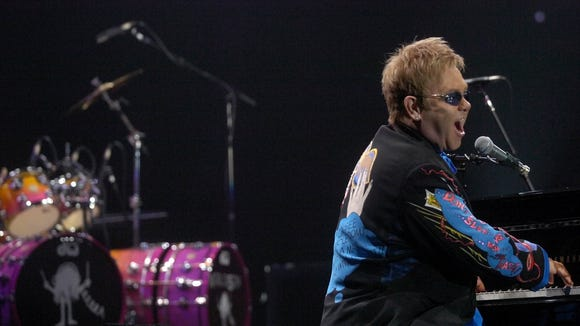 Elton John performed for a sold-out crowd at the Sioux Falls Arena on Oct. 7, 2007.