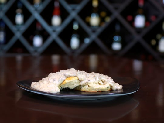 The new brunch menu at Bistro by the Tracks offers a southern favorite with its biscuits and gravy