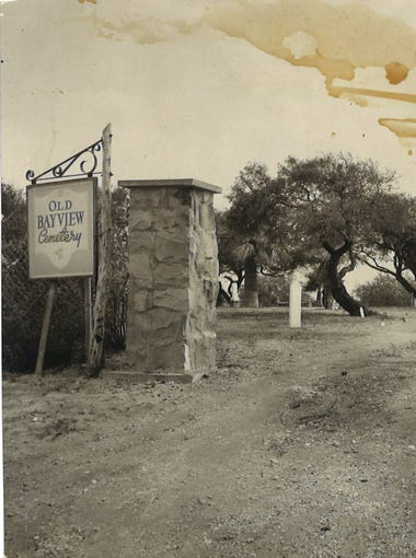 Old Bayview Cemetery was the scene of speculative treasure hunters in August 1955 when a woman in California claimed Pancho Villa buried gold coins and jewelry in the Corpus Christi graveyard.