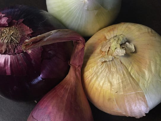 A variety of onion types that are similar but with