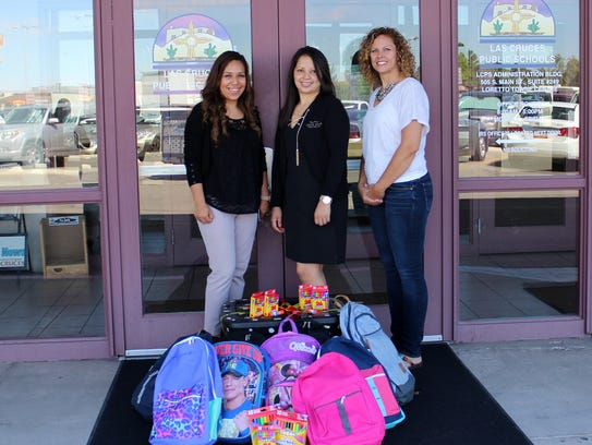 District officials accept school supplies donated to