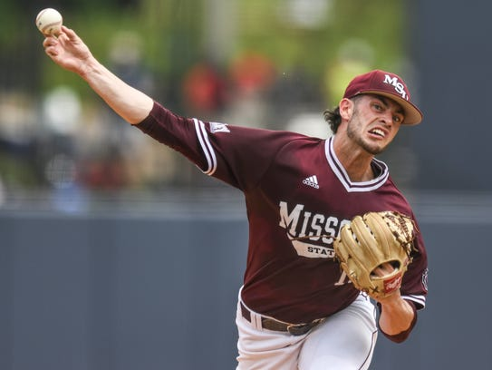 Missouri State pitcher Dylan Coleman (10) pitches against