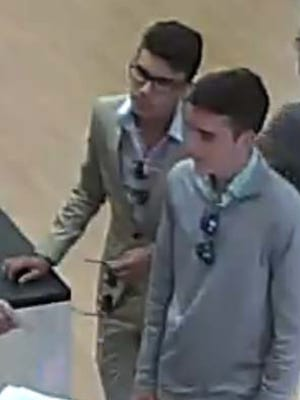Naples Police is looking for information on these subjects who removed a pair of designer glasses each and exited the store without making a payment.
