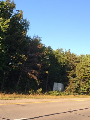 A semi left eastbound I-69 in Kimball Township Wednesday evening, hitting several trees in the median.