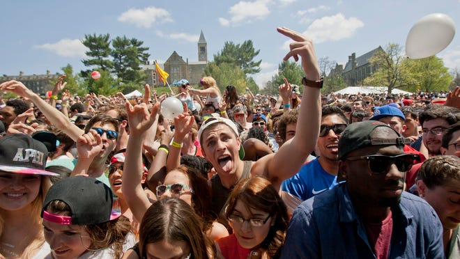 Marking the end of classes, upwards of 18,000 people came out to enjoy Slope Day at Cornell University. Chance the Rapper headlined the show, with MAGIC! as the opener.