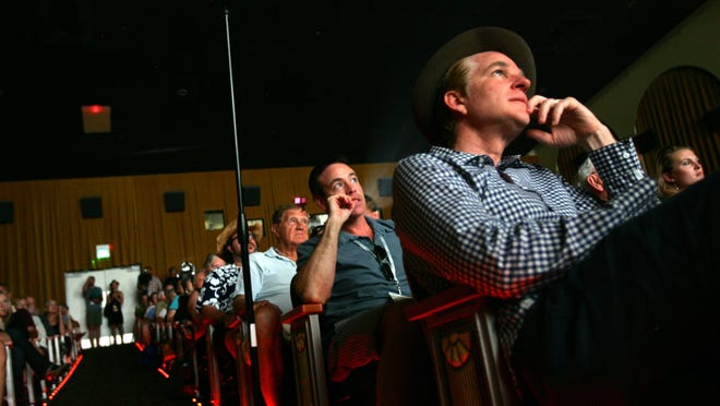 Actor Matthew Modine watches the work of director Gus Van Sant during a Palm Springs International Shortfest event in 2012 at Camelot Theatres.