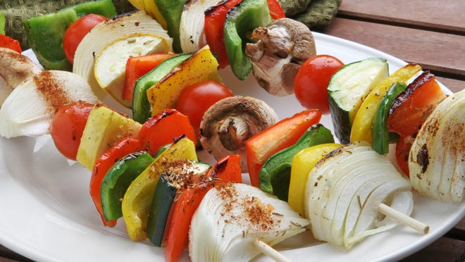 Pam Smith's vegetable kebabs were inspired by the new vegan diet followed by her sister, WAVE-3 news anchor Dawne Gee.