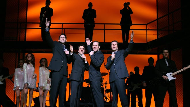 Jersey Boys, about the rise, success and eventual breakup of The Four Seasons, plays the Auditorium Theatre Tuesday through Saturday.