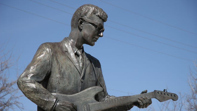 Buddy Holly, the most famous of Lubbock's singers, now is remembered by a statue across the street from the Buddy Holly Center.