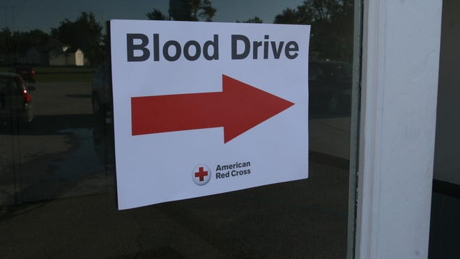 Blood drives are scheduled in the area.