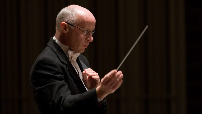 Brian Groner is the conductor for the Fox Valley Symphony Orchestra.