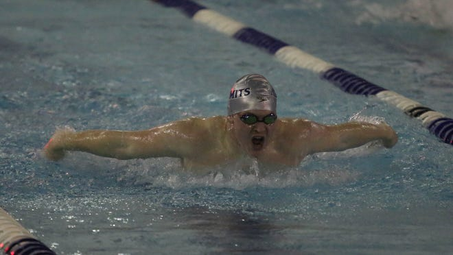 St. Augustine's Billy Lyons swims in the 100 meter fly at the Cape-Atlantic League championships on Thursday. The Hermits are seeded No. 3 in the Non-Public A playoffs.