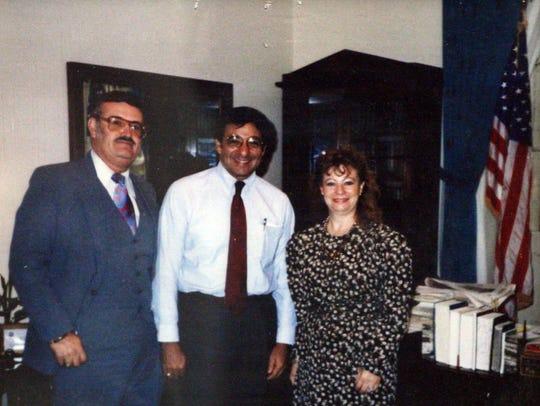 The Padillas with then Congressman Leon Panetta
