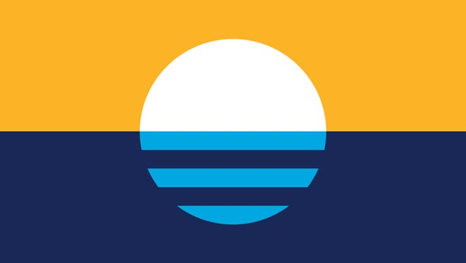 Sunrise Over the Lake, designed by Robert Lenz, was declared the people's flag of Milwaukee in 2016 after judges and residents narrowed a field of more than 1,000 entries. But it has yet to receive official acceptance by the Common Council.