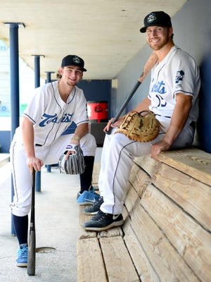 Asheville Tourist infielders Brendan Rodgers, left, and Brian Mundell were awarded top honors in the South Atlantic League this week. Rodgers was named top prospect and Mundell was named league MVP.