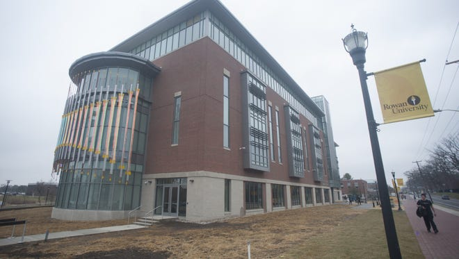 A view of the new business building at Rowan University.