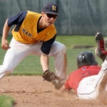 Hartland's Hunter Delanoy had two RBIs in his team's 5-3 loss to Saline in the state semifinals on Thursday.