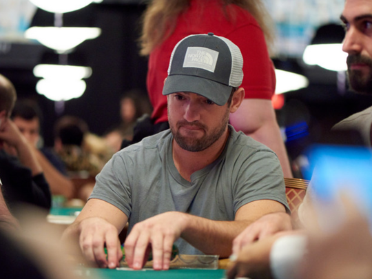 Joe Cada plays in the first open World Series of Poker