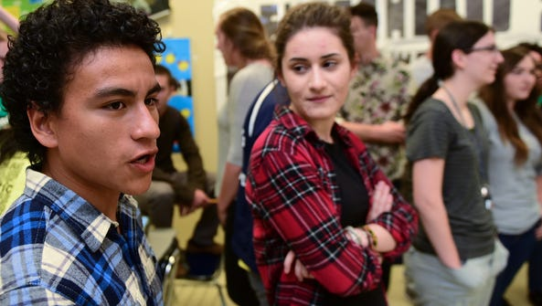 Josue Chacon, left, and Katheirne Papoutsis are two