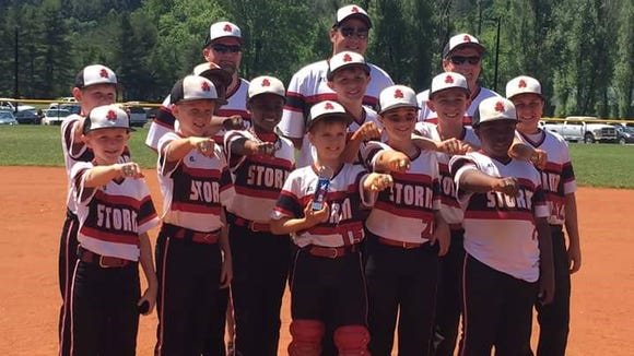 The Asheville Storm 10 and under baseball team won