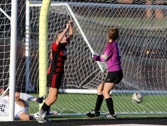 Wichita Falls High School's Emma Antill celebrates